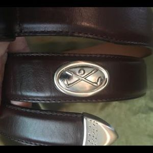 Golf leather brown belt. Ladies size M.